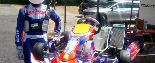 DKart au championnat de France X30 avec Kaourintin Caudal Paul et le nouveau Alpha Tiger Black 40th
