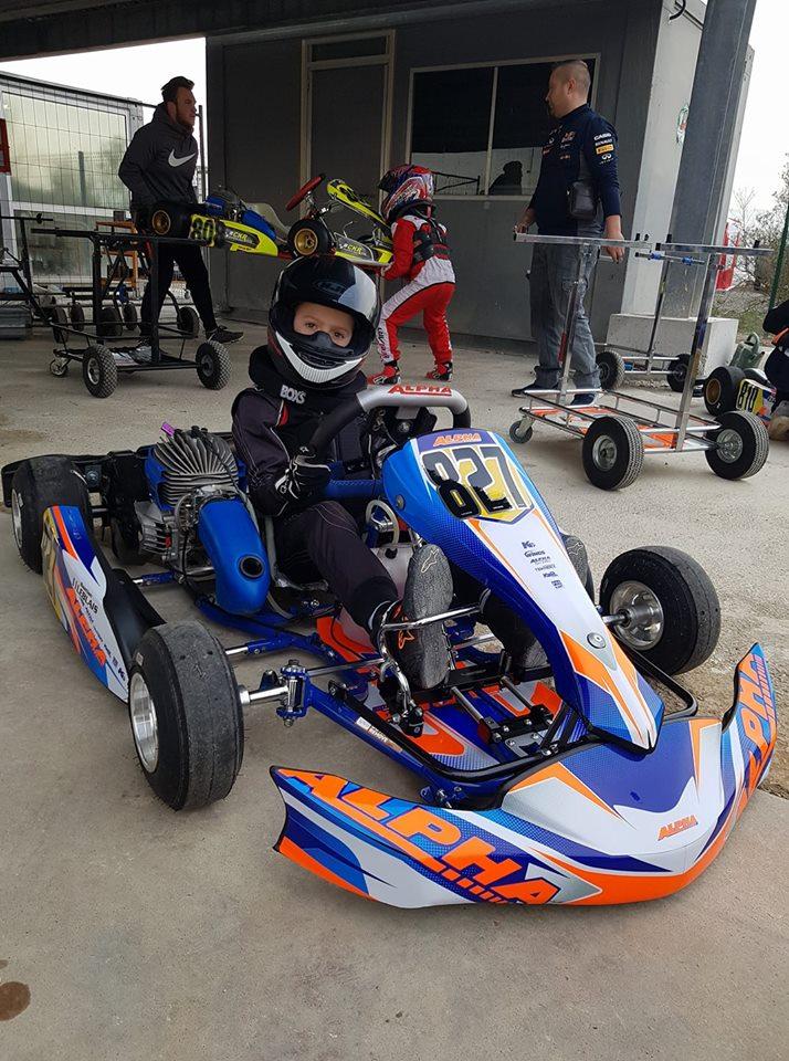 Bastian Leblais, ensemble Minime Alpha-Karting