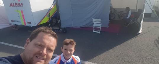 Iame Series – Bastian Leblais au Mans avec le soutien de Nicolas et le staff Alpha-Karting